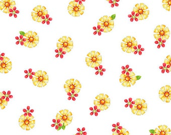 Who Let the Hogs Out, Flowers, Quilting Treasures Fabric