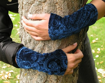 Fingerless Gloves Velvet