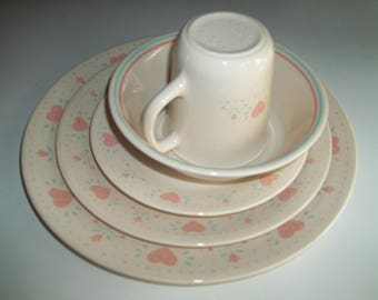 5 Piece Corelle Forever Yours Dinner Set