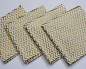 Gold  Pocket Square handkerchief, Groomsmen pocket Square,chevron pocket square, Cotton Pocket square, Handmade  in the USA