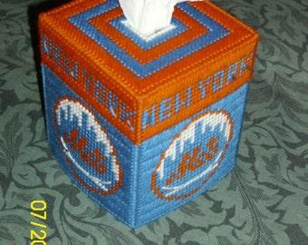 Mets Plastic Canvas Tissue Box Cover