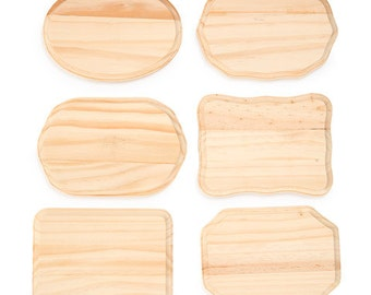 """Pine Wood Plaque - Assorted Shapes - 5"""" X 7"""" - Choose Your Shape - Rustic Wall Decor - DIY Home Decor - Wooden Wall Sign - Wood Wall Art"""