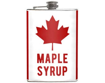 Canadian MAPLE SYRUP Flask