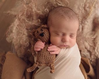 Mini Brown Bear- Newborn Photography prop