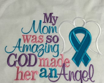 My Mom was so Amazing God made her an Angel Throw Pillow Cover Alzheimer's awareness pillow cover, papa, aunt, Dad, uncle, Mimi any disease