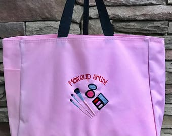 Make Up Artist Bag, Photographer Bag, Professional Tote Bag, Large Tote Bag Many Colors and Free Personalization