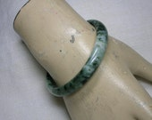 Chinese Dushan Jade Bangle, Winter Greens, Size 58mm