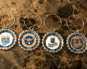 Kansas City Royals inspired wine glass charms for the wine lover in your life.... Set of 6