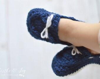 Toddler Boat Slippers Crochet Pattern PDF DOWNLOAD