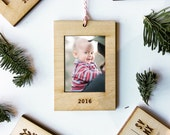Ornament Frame for Instax Mini - Natural Wood Laser Cut