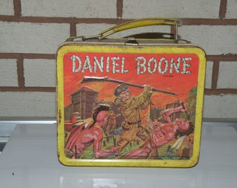 Vintage Daniel Boone Lunchbox Collectible Lunchbox for Men Lunchbox for Kids Vintage Lunchbox 1950s Lunchbox Series Lunchbox Bags and Purses