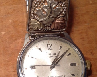 Vintage Mens Louis 17 Jewels Mechanical Watch