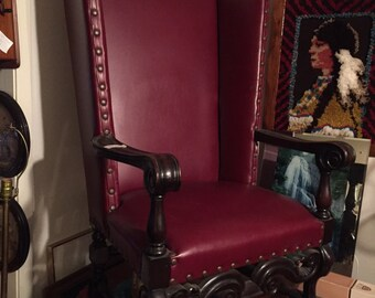 Antique throne chair etsy for Buy iron throne chair