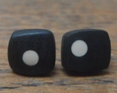Mini resin studs-black with nude spots