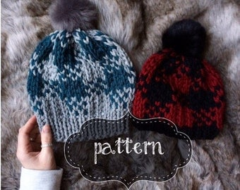 Knit Hat Pattern Etsy