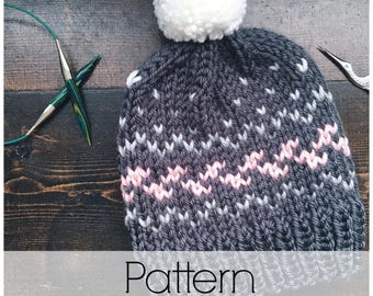 Wanderlust Toque Pattern | Knit Toque Pattern | Fair Isle Knit Toque Pattern