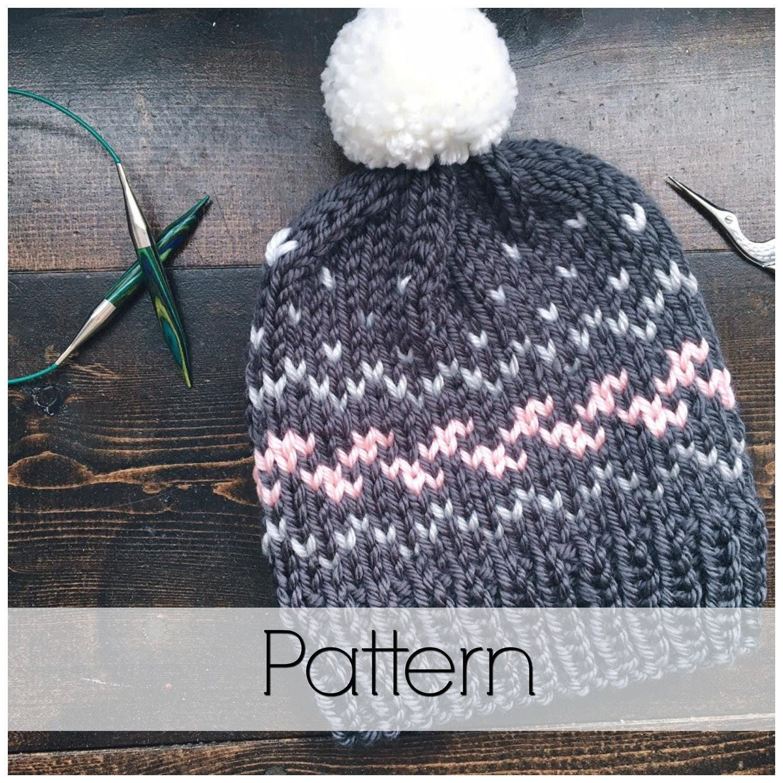 Wanderlust Toque Pattern Knit Toque Pattern Fair Isle Knit