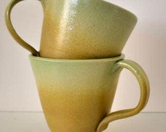 Green Coffee Mug - Stoneware Mug - Green Mug - Coffee Mug - Pottery Mug - Ceramic Mug - Pottery Coffee Mug - Ceramic Coffee Mug - Tea Mug