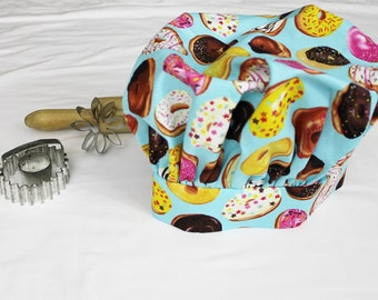 Donuts on Turquoise Child Chef Hat - Adjustable