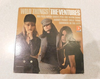 "The  Ventures""WILD THINGS"" 1966 LP. ""Fuzzy & Wild"",""Wild  Wooly ,Wild Trip"