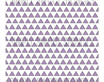 Triangle Pattern Stencil