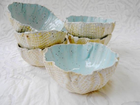 Ceramic Bowl, Robins Egg Blue Bowl, turquoise bowl, organic shape, serving bowl, stoneware, dip bowl, pastel bowl, nut bowl, snack bowl
