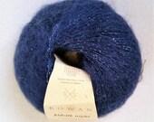 ROWAN 'Kidsilk' Yarn 'Night' Color Mohair/Silk Blend Made in Italy--25 gram Ball