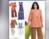 Simplicity 2635 Khaliah Ali Collection Top, Pants, Vest, Dress Sizes 26W-28W-30W-32W Partially Cut