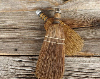 Farmhouse Kitchen Decor 2 Whisk Brooms Natural Straw Brooms Rustic Primitive Home Decor