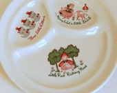 Vintage Restaurant Ware Plate, Childs Divided Plate, Walker Grill Plate, Nursery Wall Decor