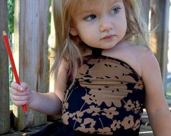 Girls Bathing Suit Black Floral Print Baby Body Suit One Size Swimwear Infant Swim Suit One Wrap Newborn Swimsuit Toddler 3 hisOpal