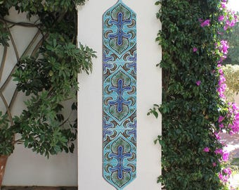 Garden decor outdoor wall art and ceramic tiles. by GVEGA on Etsy