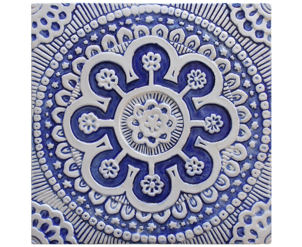 Wall hanging with suzani design outdoor wall art ceramic zoom amipublicfo Image collections