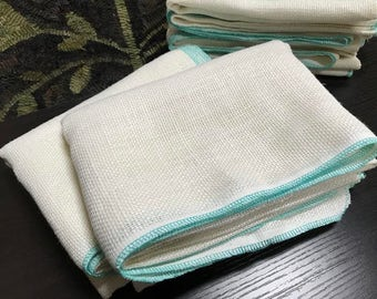 "Rug Hooking Linen - Super Soft Ivory with Serged Edges, 56"" x 36"""