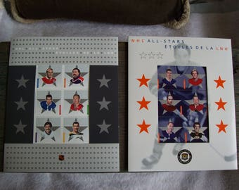NHL All Stars stamps, hockey postage stamps, Canadian souvenir stamps