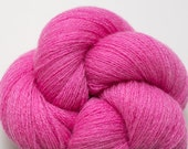 Bright Magenta Pink Lace Weight Recycled Cashmere Yarn, CSH00216