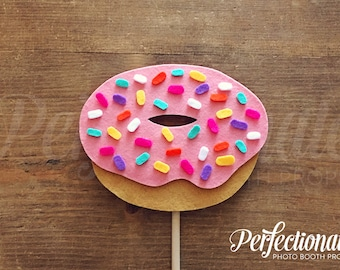 Sprinkle Donut Photo-Booth Prop | Pink Donut Prop | Donut Decorations | Donut Centerpiece