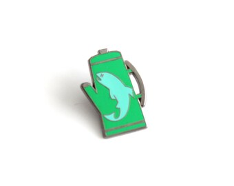 """There was a Fish in the Percolator Lapel Pin - 1.25"""" hard enamel, Twin Peaks inspired"""