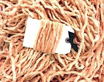 "CREAMSICLE Hand-dyed Jumbo Chenille Plush Pom Pom Trim or 9/16"" Ribbon Trim Lady Dot 100% Cotton Super Soft Plump Fuzzy"