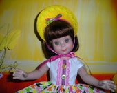 """Fits 14"""" Betsy McCall Tonner Doll .. Tutti-Fruity Sun Hat ...D1155"""