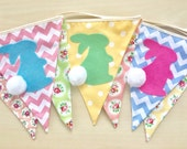 NEW Baby Bunting, Fabric Banners, Garlands, Easter, Rabbit, Bunny, Spring -   (Ready to ship)