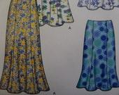 FLARED SKIRT Pattern • Simplicity 5524 • Miss 8-18 • Boho Skirts • Long Gored Skirts • Sewing Patterns • Modern Patterns • WhiletheCatNaps
