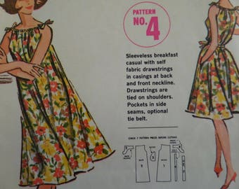 SHOULDER TIE DRESS Pattern • McCalls Quaker Oats No. 4 • Miss S • Sleeveless Dress • Sewing Patterns • Vintage Patterns • WhiletheCatNaps