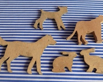 Vintage Wooden Animals