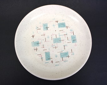 Vintage VernonWare 'Heavenly Days' Plate w/Turquoise Pattern (E1022)