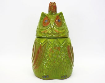 Vintage 1968 Pacific Stoneware 'Snooty Hooty' Owl Cookie Jar (E8194)