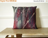 """SALE Starry sky pillow Northern night sky / Linen decorative 18"""" Square Cushion.  Violet ..   /  FRAGMENTS"""