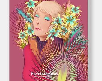 Lilies A4 gloss print