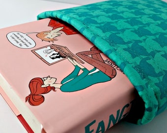 Teal Cat Tessellation Book Sleeve Foam Lining Ready to Ship