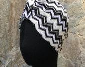 Missoni fabric  turban, full headband,headpiece, multicolor hair turban